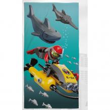 Купить lego полотенце city shark 70х140 lg4shktw001