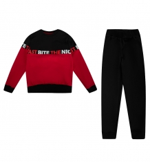 Купить комплект джемпер/брюки newborn, цвет: черный/красный ( id 10158381 )