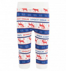Купить брюки lucky child, цвет: белый ( id 459234 )