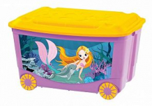 Купить ящик для игрушек бытпласт с аппликацией, цвет: сиреневый ( id 8065039 )