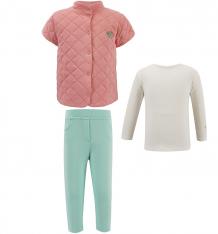 Купить комплект водолазка/жилет/брюки мамуляндия волшебная зима, цвет: розовый/белый 16-2020,скарлетт