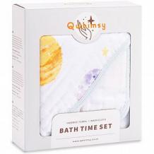 Купить набор qwhimsy полотенце с капюшоном + полотенце для лица космос ( id 12573628 )