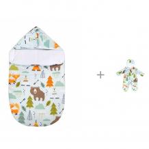 Купить forest конверт на выписку демисезонный с прорезями и комплект friends (комбинезон и шапочка)