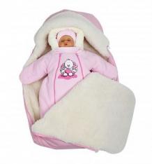 Комплект на выписку Непоседа Babyglory, цвет: розовый шапка/комбинезон/конверт ( ID 9972018 )