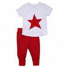 Купить комплект футболка/брюки грачонок, цвет: белый/красный ( id 12662422 )