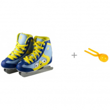 Купить atemi коньки двухполозные snow baby и 1 toy игрушка для формирования снежков дед мороз