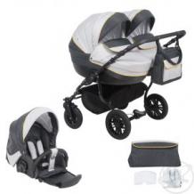 Купить коляска для двойни glory piccolo duo new, цвет: графит/светло-серый/желтый ( id 11394940 )