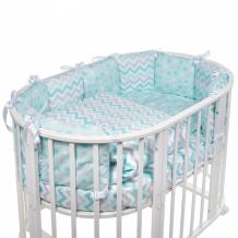 Купить комплект в кроватку sweet baby овальную colori (5 предметов)