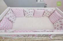 Купить бортик в кроватку mama relax розовые мечты (12 подушек)
