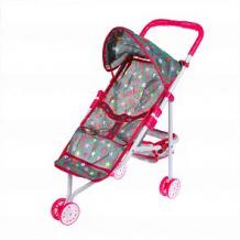 Купить коляска наша игрушка салют, розовый/серый ( id 12617794 )