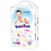 Купить yokosun подгузники-трусики м (6-10 кг) 58 шт. 6934212207183
