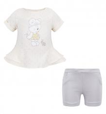 Купить комплект блузка/шорты ewa mini, цвет: бежевый ( id 2719925 )