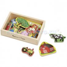 Купить деревянная игрушка melissa & doug магнитные игры ферма 9279