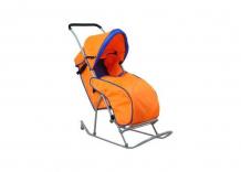 Купить санки-коляска фея метелица люкс 1 с тентом 0005573-02