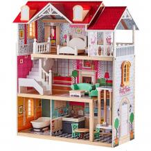 Купить topbright деревянный кукольный домик с лифтом дом мечты 150198