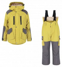 Купить комплект куртка/брюки ursindo горка-осень, цвет: желтый/серый ( id 12277546 )