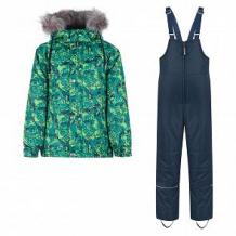 Купить комплект куртка/полукомбинезон saima, цвет: зеленый/синий ( id 10995074 )