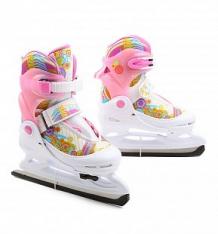 Купить коньки фигурные action sport pw-211n размер:26-29, цвет: белый/розовый ( id 445882 )