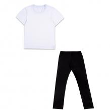 Купить комплект футболка/леггинсы апрель физкультура, цвет: белый/черный ( id 10817537 )