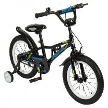 Купить двухколесный велосипед leader kids g16bd801, цвет: синий/черный g16bd801 black+blue