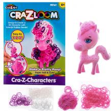 Купить crazy loom 19163 крейзи лум набор для творчества - фигурка пони + цветные резиночки