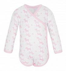 Купить боди чудесные одежки розовые собачки, цвет: белый/розовый ( id 5779759 )
