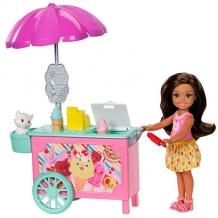 """Купить mattel barbie fdb33 барби """"челси и набор мебели"""""""