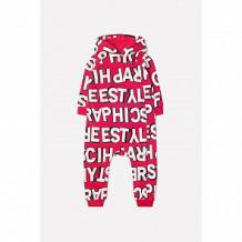 Купить комбинезон crockid графичные буквы, цвет: красный ( id 11937082 )
