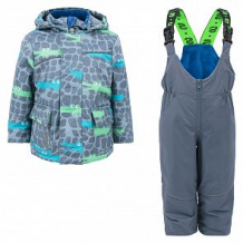 Купить комплект куртка/полукомбинезон stella's kids crocodiles, цвет: серый ( id 11872030 )