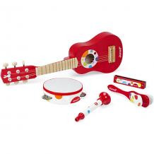 Купить набор музыкальных инструментов janod, красный ( id 9611532 )