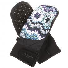 Купить варежки сноубордические женские dakine electra mitt crochet черный,мультиколор 1196362