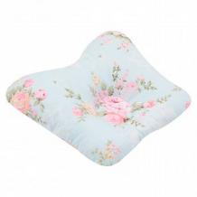 Купить зайка моя подушка анатомическая розы, цвет: голубой ( id 12192802 )