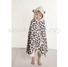 Купить cuddledry накидка с капюшоном для малышей снежный барс 121334