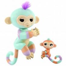 Купить интерактивная игрушка fingerlings обезьянка денни с малышом 12 см ( id 11355154 )