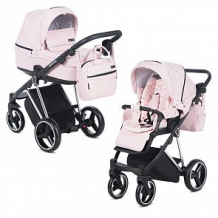 Купить коляска 2 в 1 adamex verona special edition, цвет: кожа розовая ( id 12678754 )