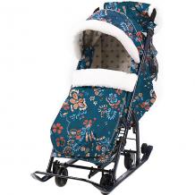 """Купить санки-коляска nika """"ника детям 7-5"""", цветочный тёмный ( id 12865787 )"""