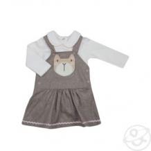 Купить комплект джемпер/сарафан kidaxi, цвет: коричневый/белый ( id 10600292 )