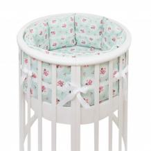 Купить комплект в кроватку colibri&lilly lady rose round (5 предметов)