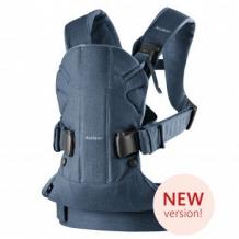 Купить рюкзак-переноска babybjorn one soft cotton classic denim midnight blue, пепельно-синий babybjorn 996965912