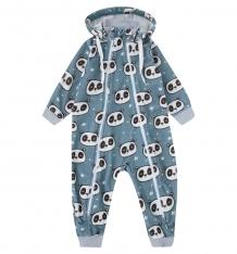 Купить комбинезон newborn панда, цвет: серый/синий ( id 9900648 )