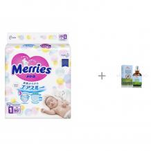 Купить merries подгузники nb (0-5 кг) 90 шт. и масло mommy care для отпугивания комаров