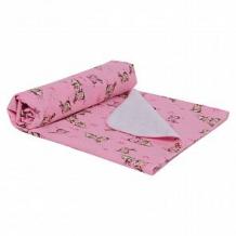 Звездочка Пеленка Кролики 80 х 120 см, цвет: розовый ( ID 10617038 )