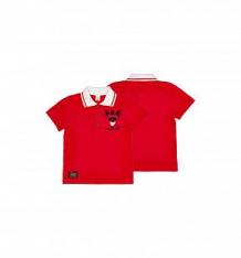 Купить футболка-поло lucky child лемур в париже, цвет: красный ( id 10420913 )