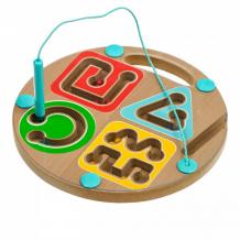 Купить деревянная игрушка игрушки из дерева магнитный лабиринт геометрия д443