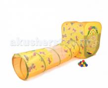 Купить bony игровой домик с тоннелем с шариками квадрат бабочки li523