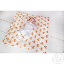 Купить slingme конверт-одеяло лисички 90 х 90 см, цвет: белый ( id 12797590 )