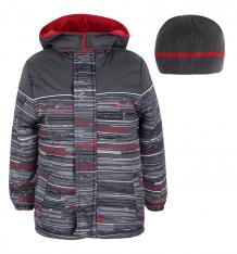Купить куртка куртка/шапка ixtreme by broadway kids, цвет: серый/красный ( id 7755433 )