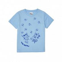 Купить футболка frutto rosso три кота, цвет: голубой ( id 11319722 )