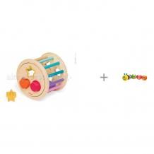Купить сортер janod колесо с фигурами и развивающая игрушка maman гусеница