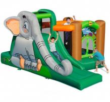 Купить happy hop надувной батут с горкой слоник 9274 9274